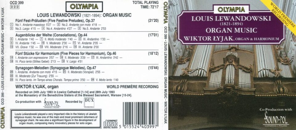 Louis Lewandowski – organ music
